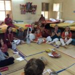 Visitors from Shanthimalai Ashram! Happy afternoon!