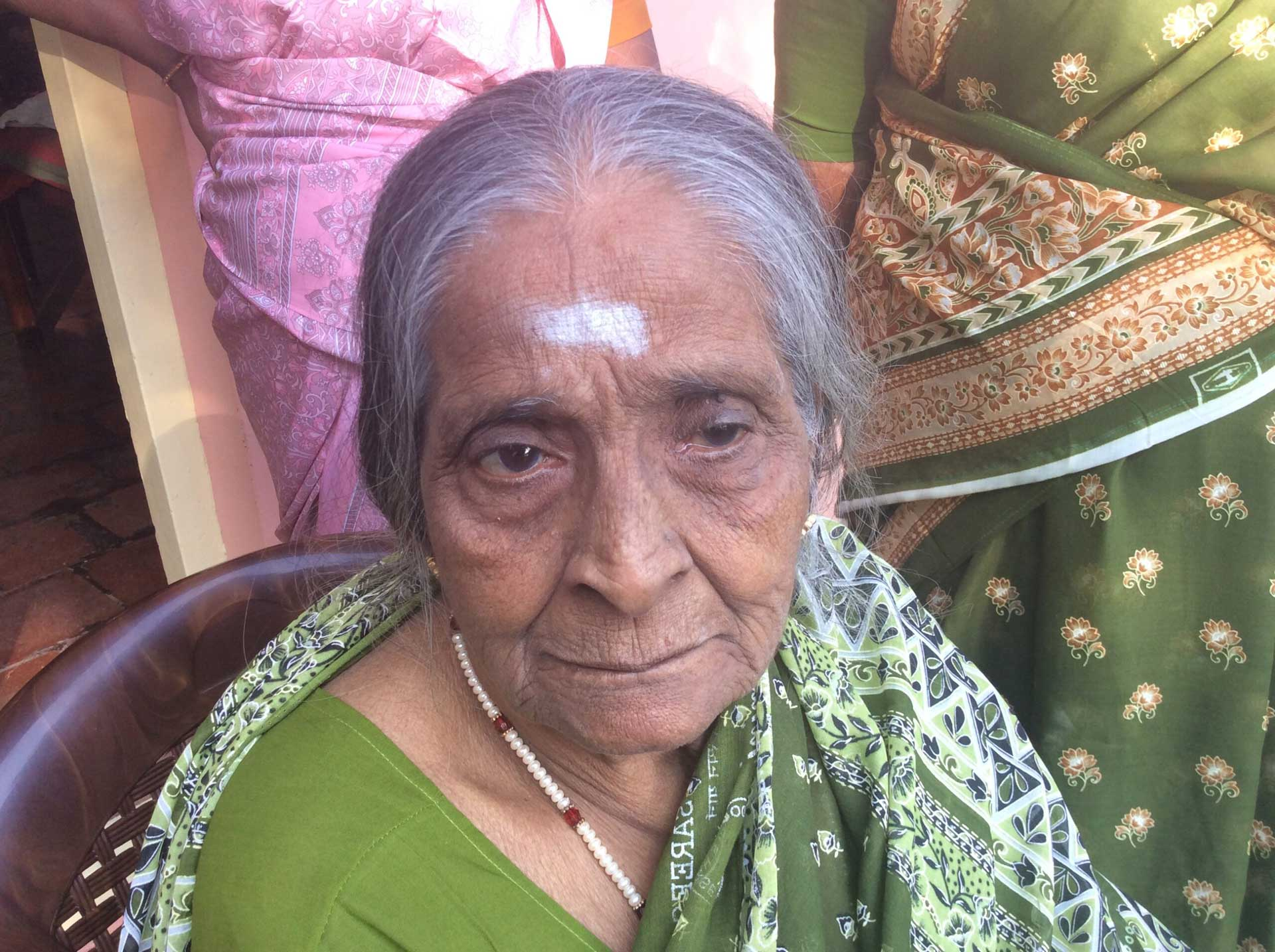Last photo of beloved Saroja before she died.